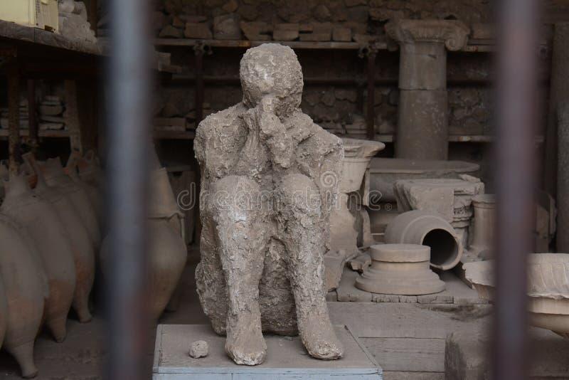 Opgesloten in de Verloren Stad van Pompei royalty-vrije stock foto's