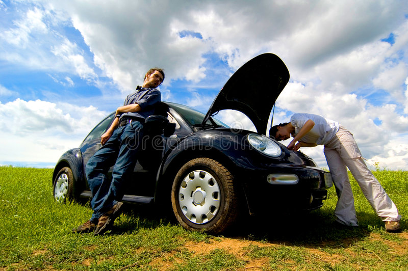 Opgesplitste Auto royalty-vrije stock foto's