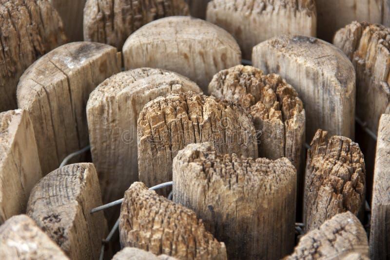 Opgestapeld omhoog hout royalty-vrije stock afbeelding