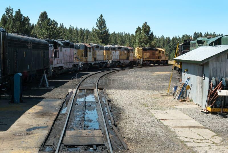Opgestelde locomotieven royalty-vrije stock foto