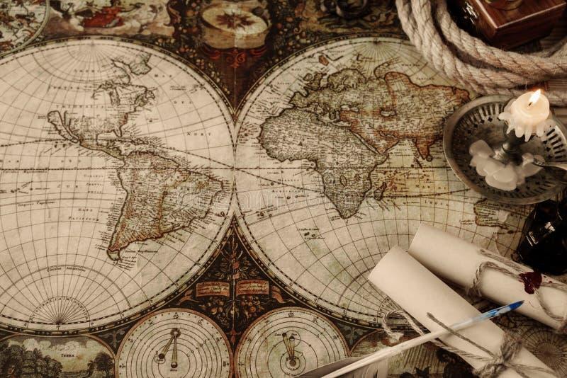 Opgevat in antieke stijl: avontuur royalty-vrije stock foto's