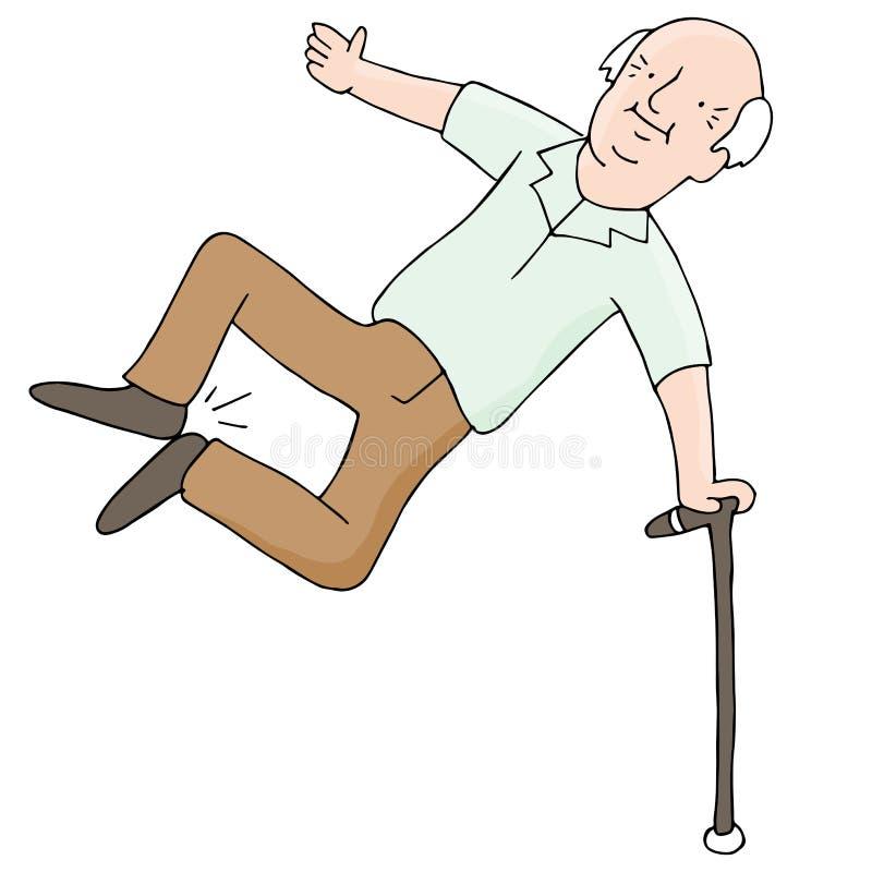 Opgewekt Bejaarde stock illustratie