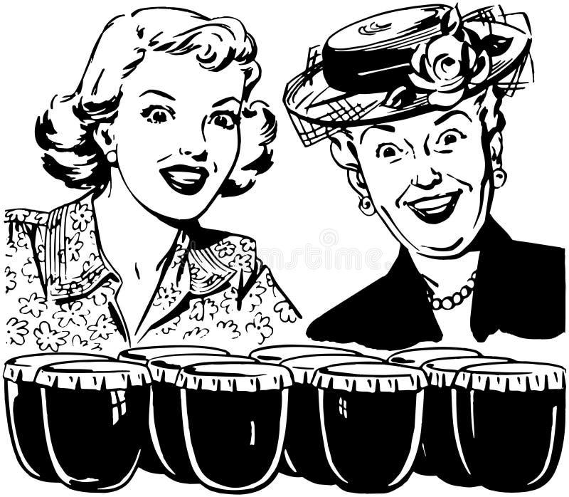 Opgewonden Dames vector illustratie