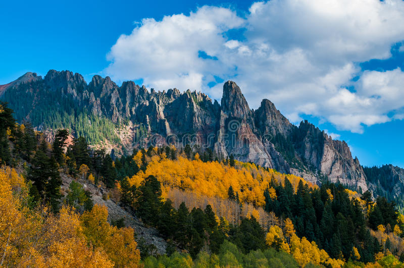 Ophir Needles Fall Colors stockfoto