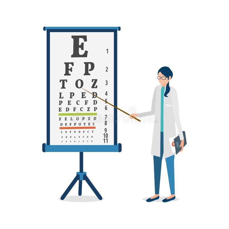 ophtalmologue illustration de vecteur