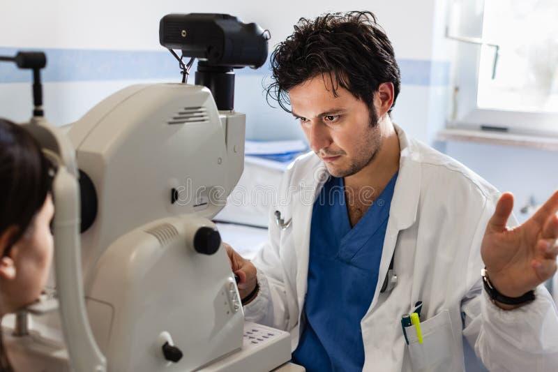 Ophthalmology check stock image