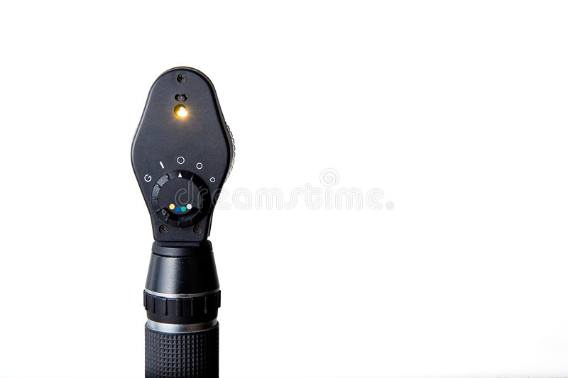 Ophthalmoscope for Eye Exam royalty free stock photo