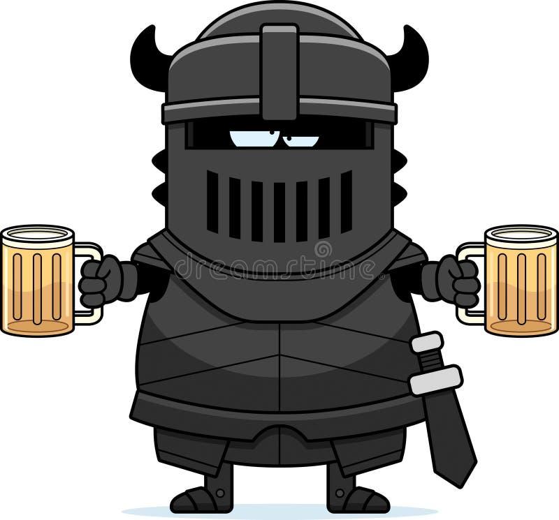Opiłej kreskówki Czarny rycerz royalty ilustracja