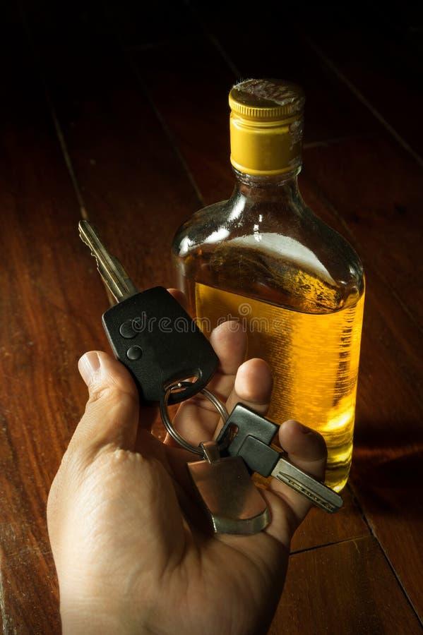 Opiły kierowca, ogólnospołeczny problemowy pojęcie obraz stock
