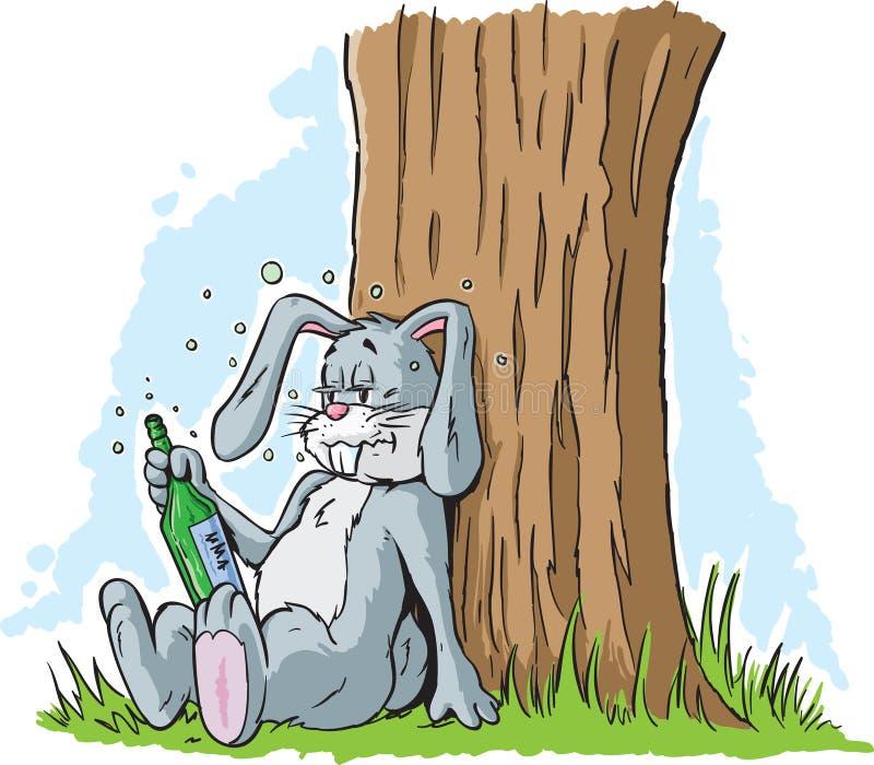 Opiły królik ilustracji