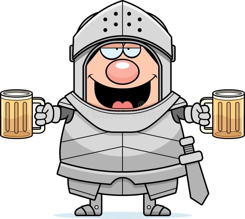 Opiły kreskówka rycerz royalty ilustracja