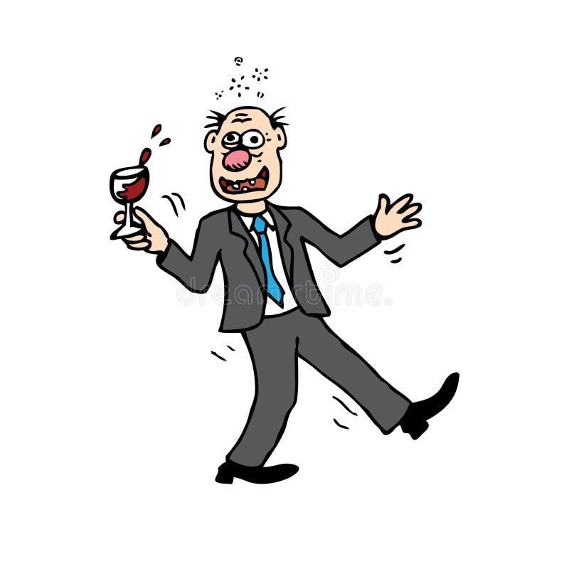opiły mężczyzna ilustracji