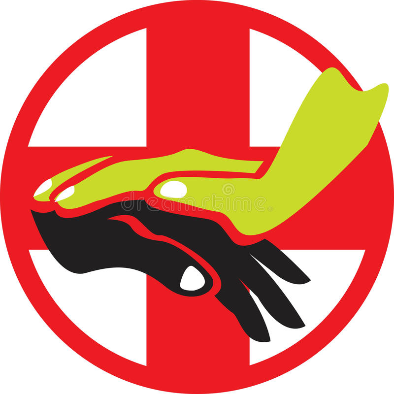 opieka logo ilustracji