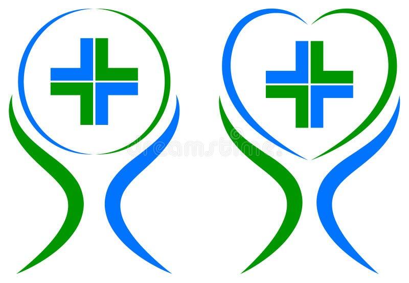 opieka medyczna plus logo ilustracji
