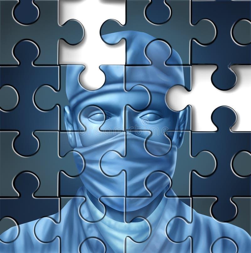 Opieka Medyczna Problemy ilustracja wektor