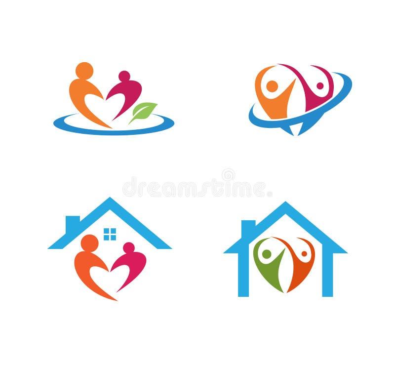 opieka nad dzieckiem wychowywa edukaci i adopci loga wektorowego projekt ilustracja wektor