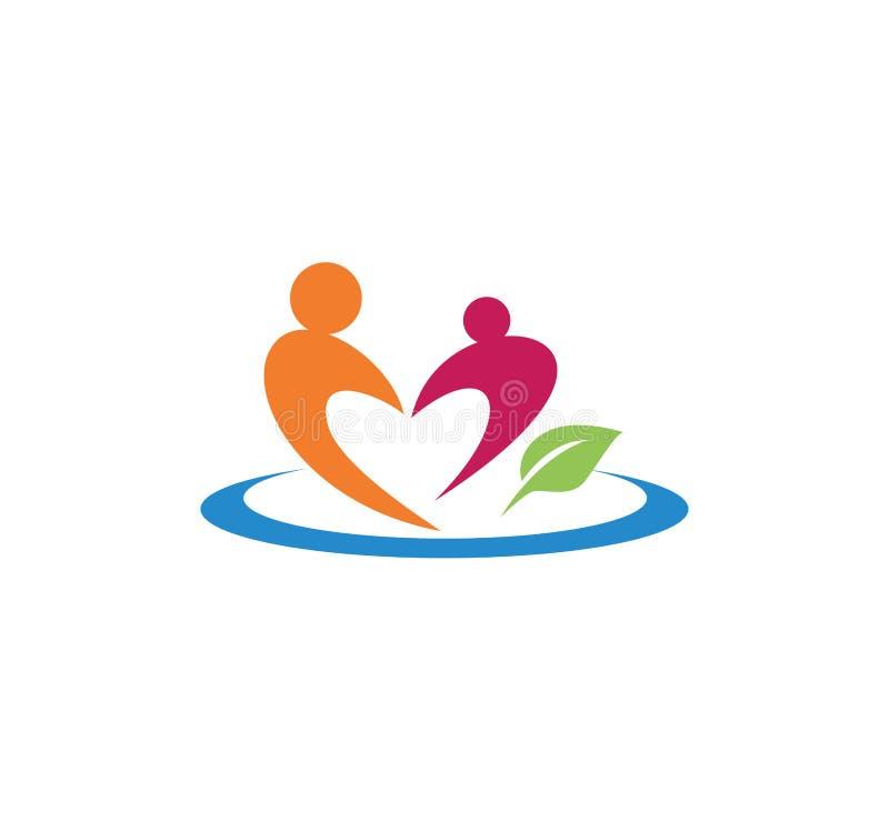 opieka nad dzieckiem wychowywa edukaci i adopci loga wektorowego projekt royalty ilustracja