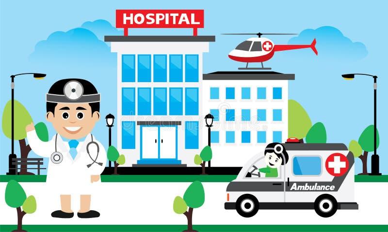 Opieka Nad Pacjentem poj?cie ilustracja wektor