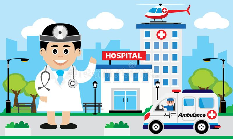 Opieka Nad Pacjentem poj?cie ilustracji
