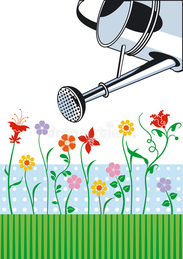 opieka ogród ilustracji