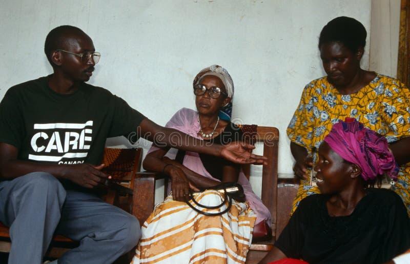 Opieka wolontariusz w Rwanda. obrazy stock