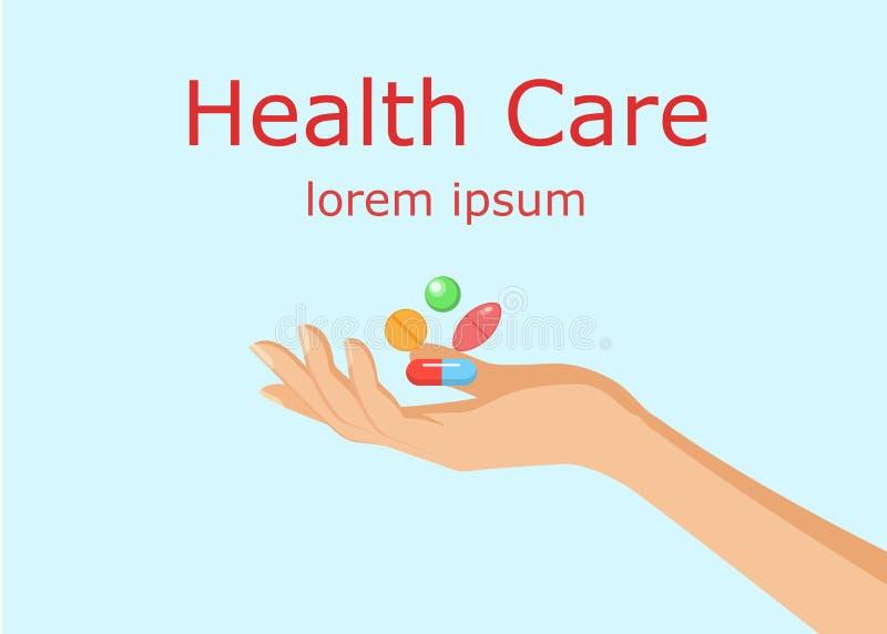 Opieka zdrowotna horyzontalny sztandar ilustracja wektor