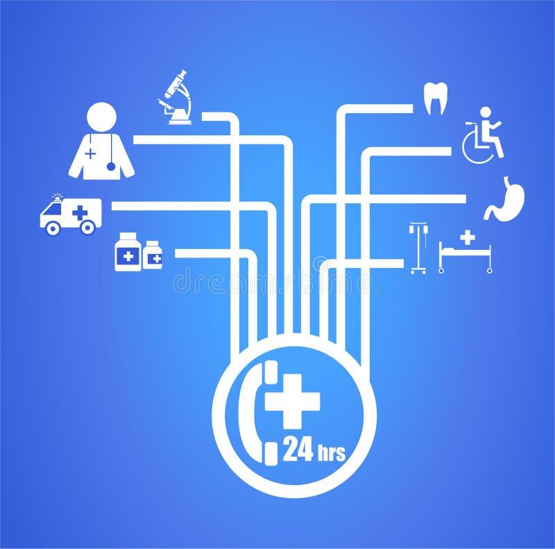 Opieka zdrowotna i medyczny diagram ilustracji
