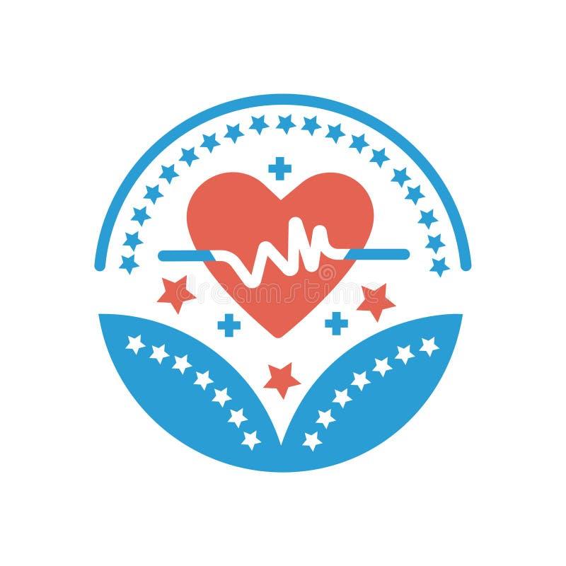 Opieka zdrowotna i medyczny nagrody ikony opieki zdrowotnej wektor podpisujemy ilustracji