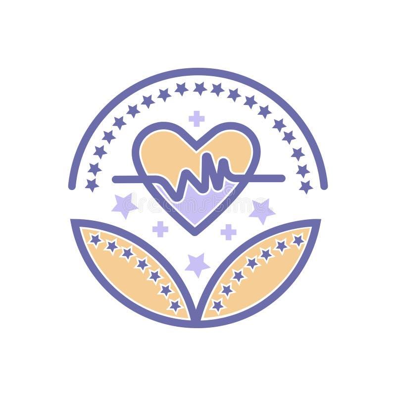 Opieka zdrowotna i medyczny nagrody ikony opieki zdrowotnej wektor podpisujemy royalty ilustracja