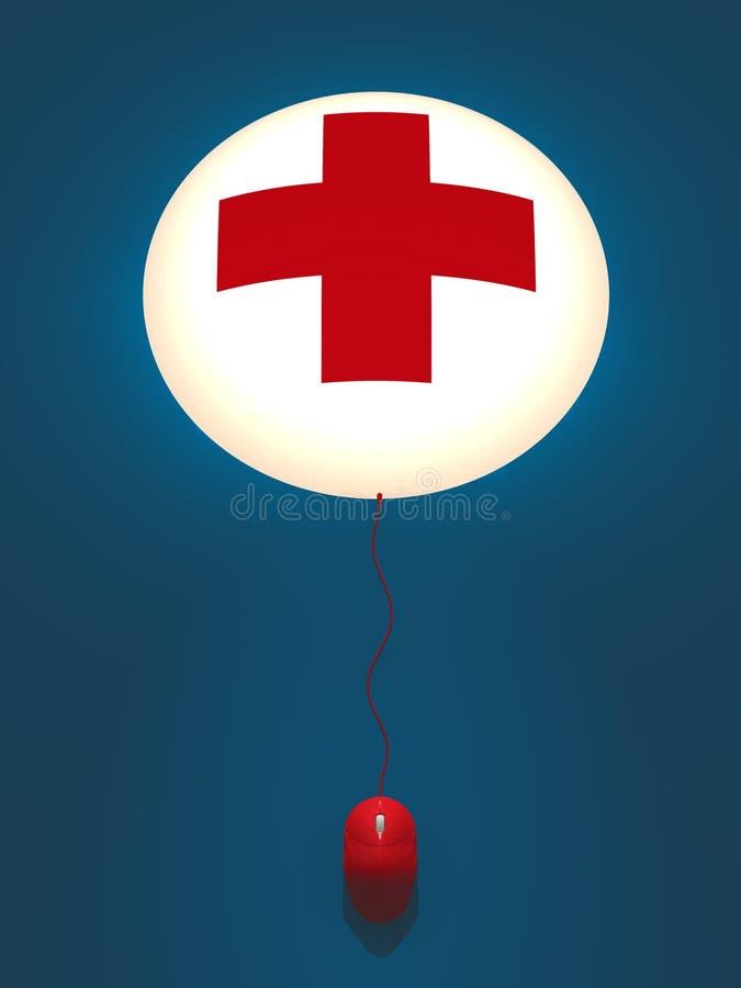 opieka zdrowotna internety ilustracji