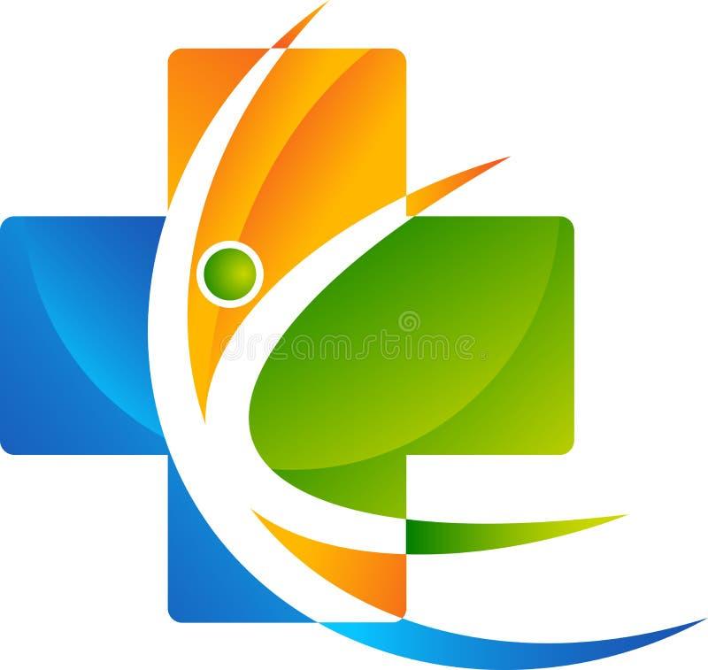 Opieka zdrowotna logo ilustracji