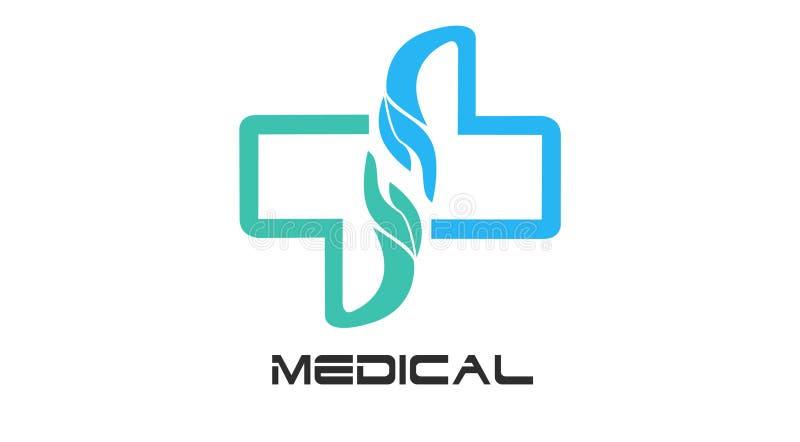 Opieka Zdrowotna logo Dla centrum medycznego, fotografia royalty free
