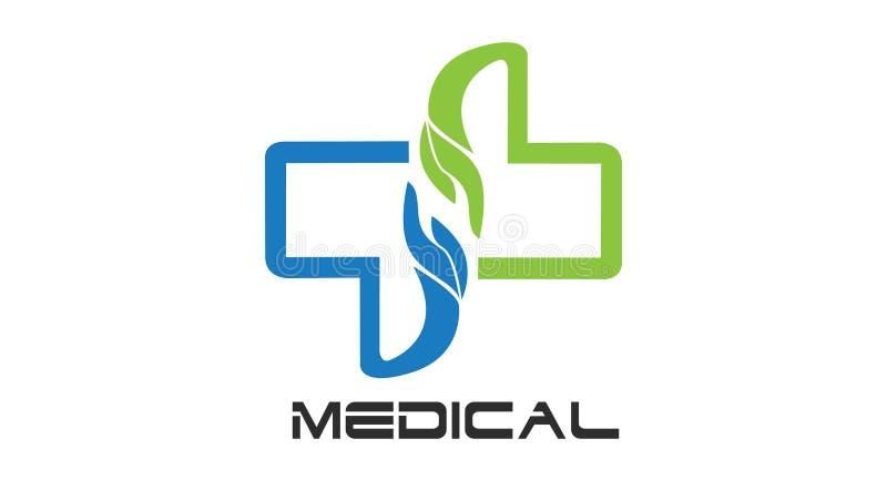 Opieka Zdrowotna logo Dla centrum medycznego, obraz royalty free