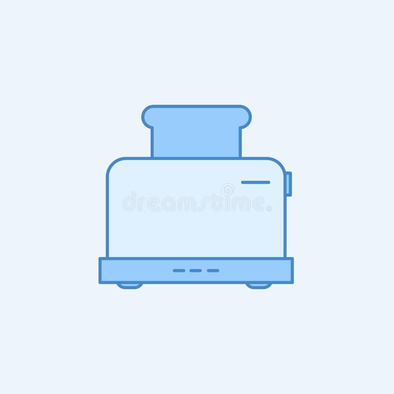 Opiekacza 2 barwiąca kreskowa ikona Prosta błękitna i biała element ilustracja Opiekacza pojęcia konturu symbolu projekt od kuchn ilustracji