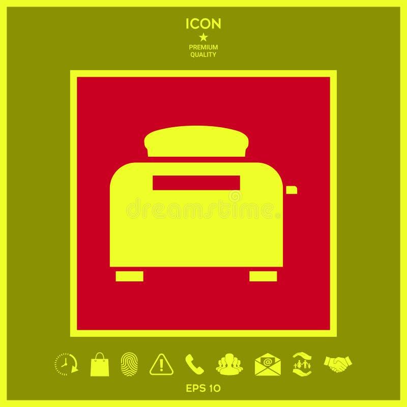 Opiekacza piekarnika ikona ilustracji