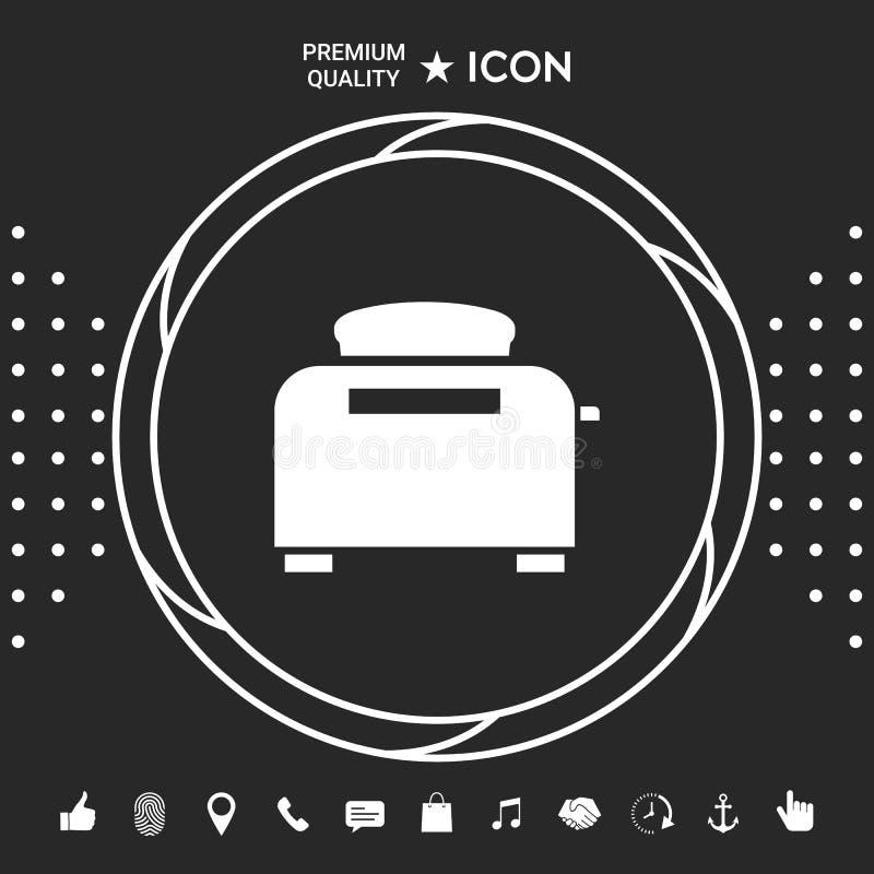 Opiekacza piekarnika ikona Graficzni elementy dla twój designt royalty ilustracja