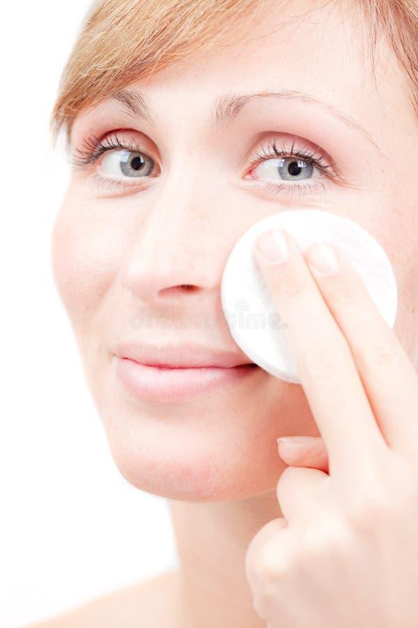 opieki cleaning twarzy żeńska skóra zdjęcia royalty free