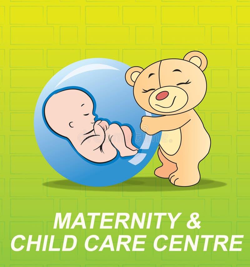 opieki dziecka logo ilustracji