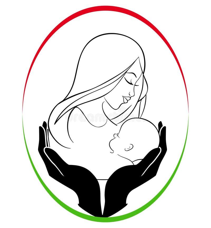 opieki dziecka matka royalty ilustracja