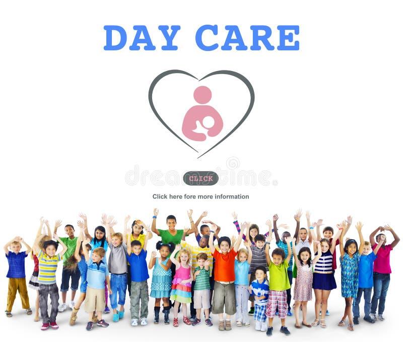 Opieki Dziennej dziecka edukaci dziecina Centrum pojęcie obraz royalty free