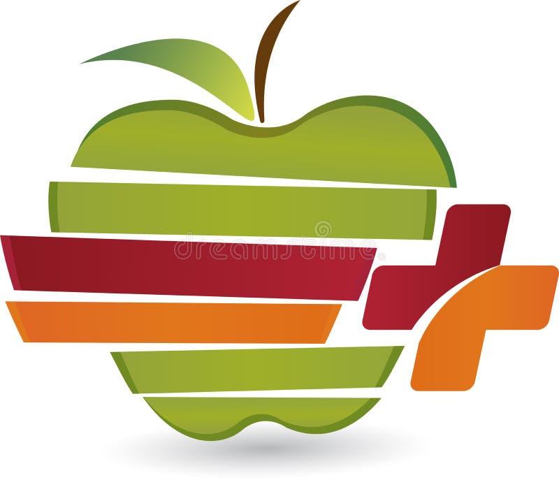 Opieki jabłka logo royalty ilustracja