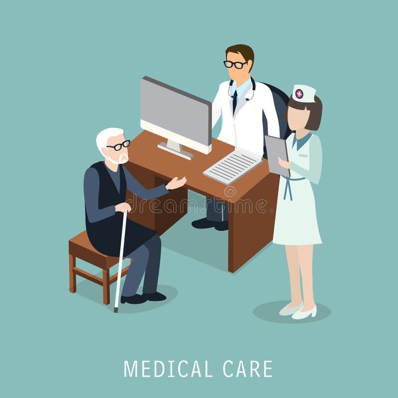 Opieki medycznej pojęcie ilustracji