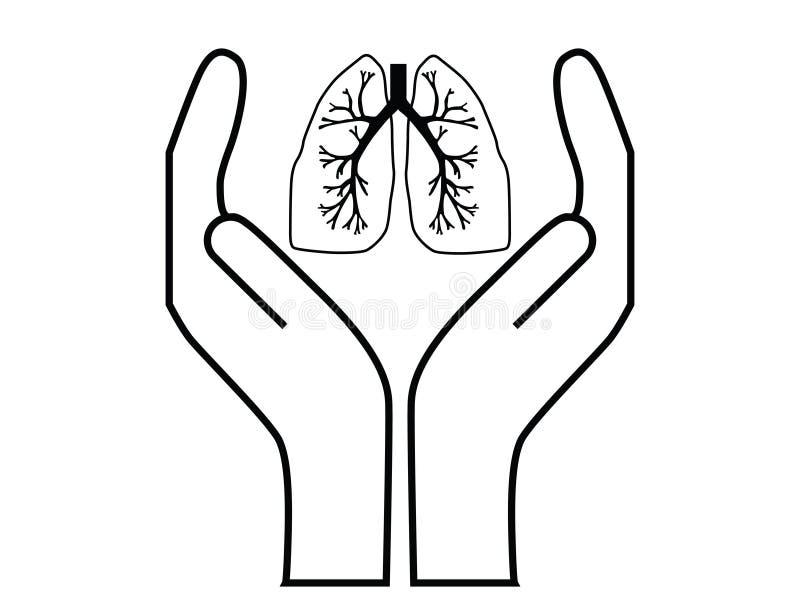 opieki płuco ilustracji