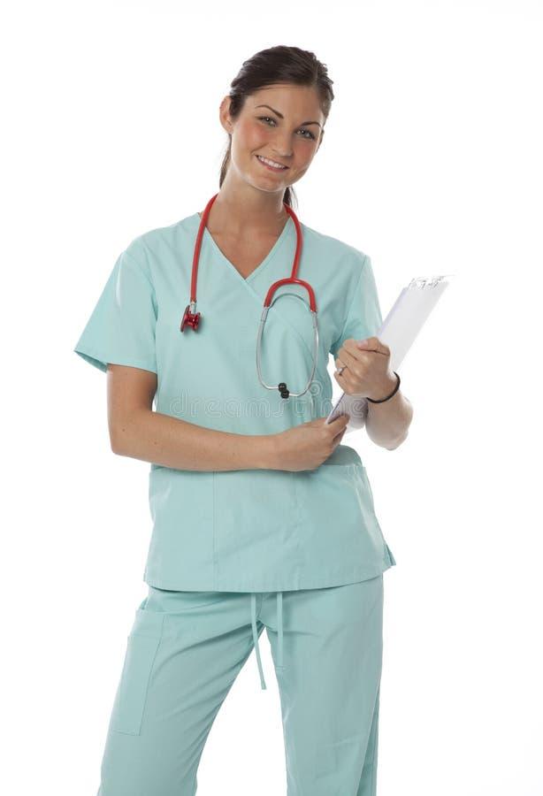 opieki zdrowie ładny pracownik zdjęcia royalty free
