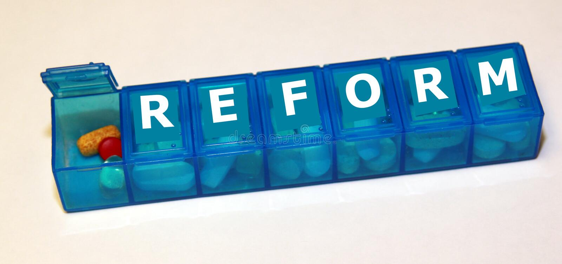 opieki zdrowie reforma obraz stock