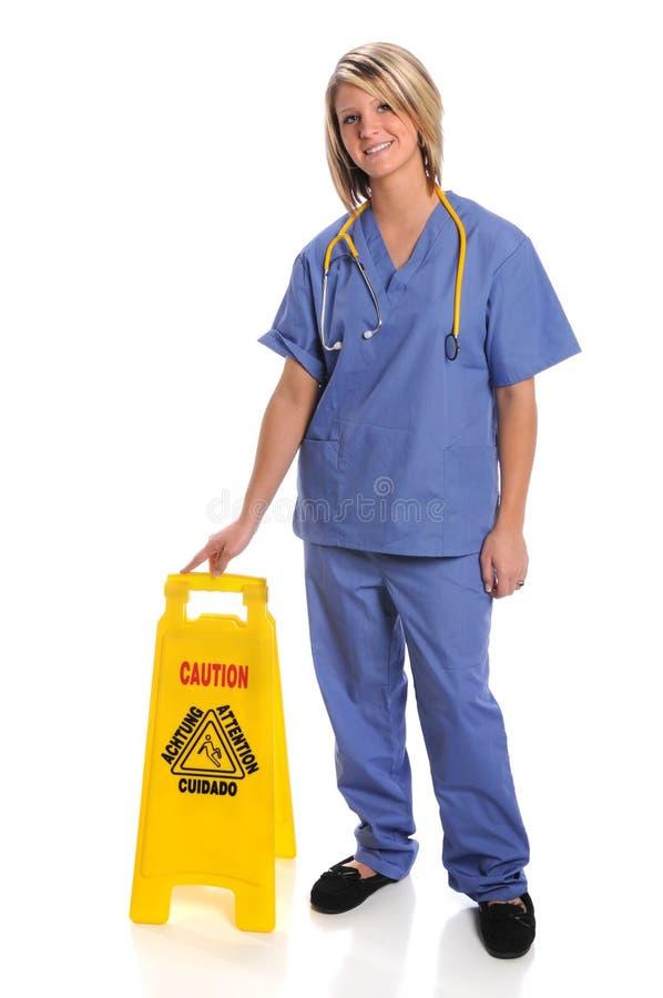 opieki zdrowie zbawczego znaka pracownik zdjęcie royalty free