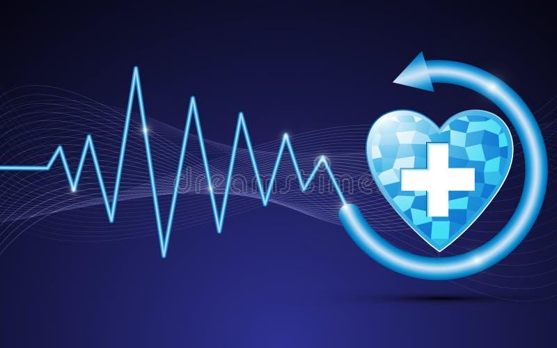Opieki zdrowotnej cyfrowy abstrakcjonistyczny tło ilustracja wektor