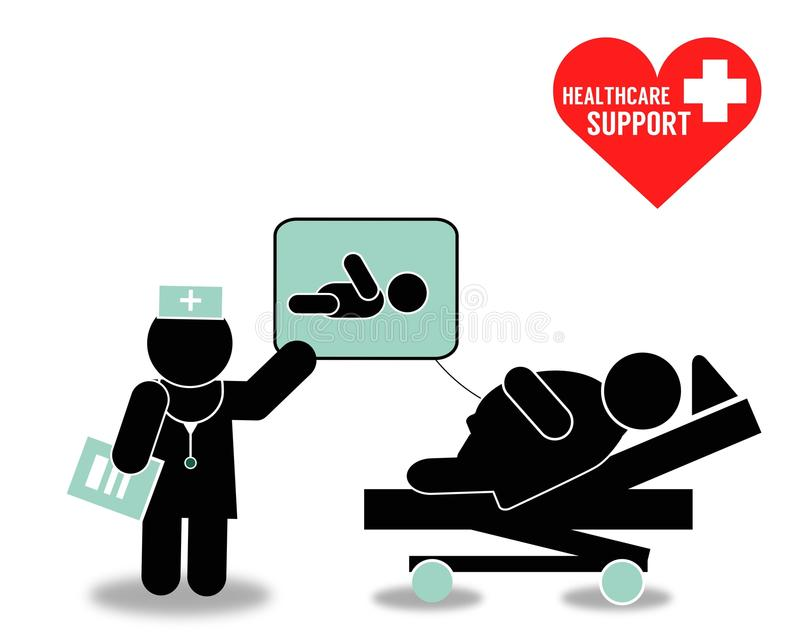 Opieki zdrowotnej poparcie ilustracja wektor