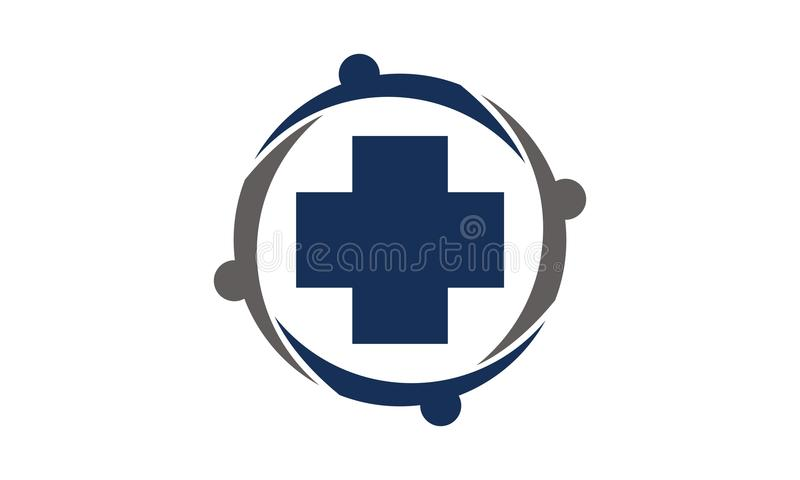 Opieki Zdrowotnej społeczność royalty ilustracja