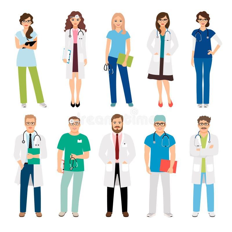 Opieki zdrowotnej zaopatrzenia medycznego pracownicy royalty ilustracja